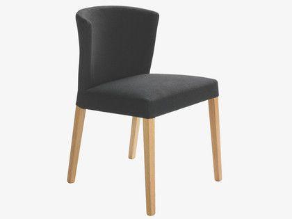 VALENTINA GREYS Fabric Grey upholstered dining chair - HabitatUK
