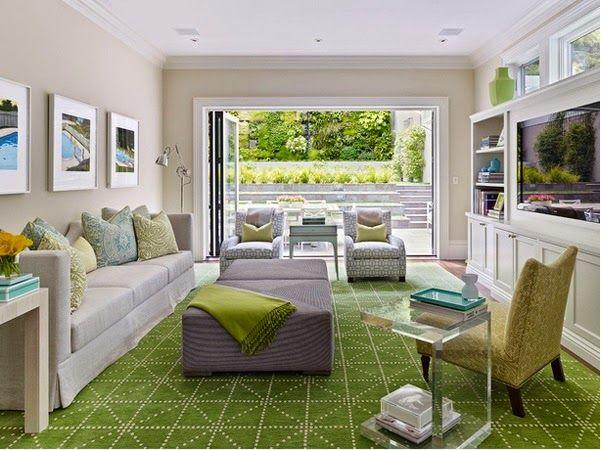 Belles conceptions des salons gris et vert
