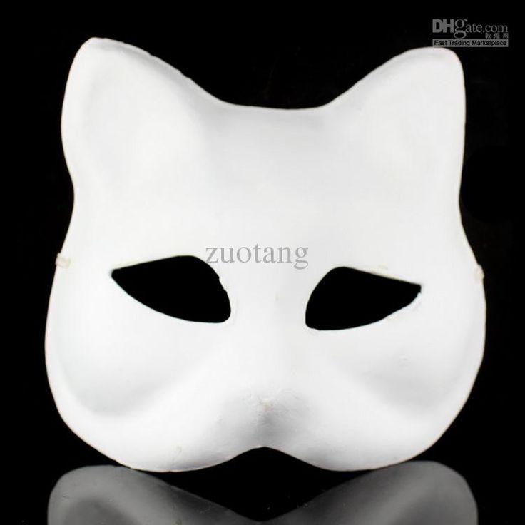Best Animal Plain White Masks DIY Environmental Pulp Masks Fine Art Painting Masks Net Weight 35g 10pcs/lot Free Online with $2.94/Piece | DHgate