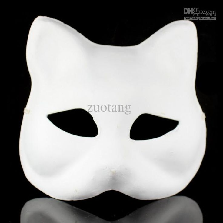 Best Animal Plain White Masks DIY Environmental Pulp Masks Fine Art Painting Masks Net Weight 35g 10pcs/lot Free Online with $2.94/Piece | DHgate