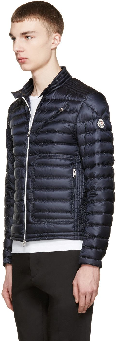 Moncler Navy Down Picard Jacket