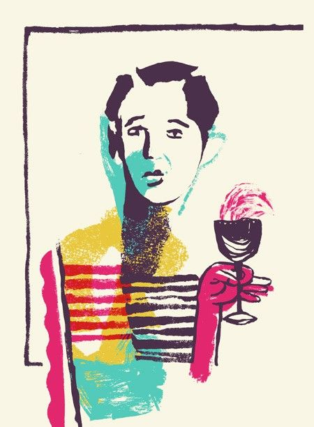 Wino screen print by largemammal on Etsy, $30.00