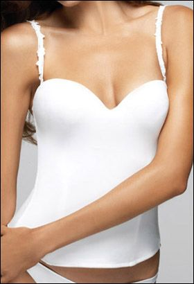 Le Mystere Bridal Bra - Best Bridal Bra Award Winner $124.95; bridal bustier in white or ivory; bride undergarments
