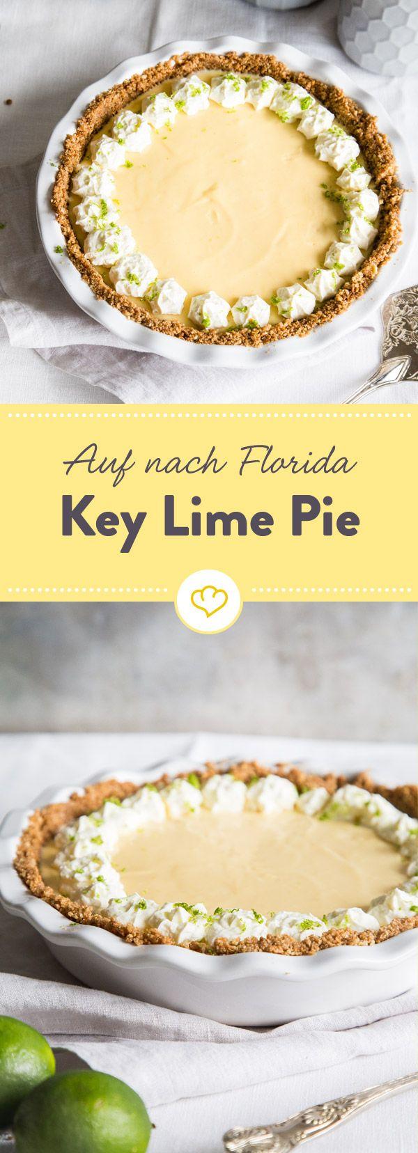 Was macht den klassischen Key Lime Pie aus? Natürlich die Limetten! Aber auch, dass man ihn nicht backen braucht. Greif zu und sicher dir ein Stück Urlaub.