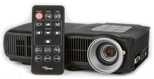 optoma pico projectors... spendy but might be worth it to be able to do presentations pretty much anywhere