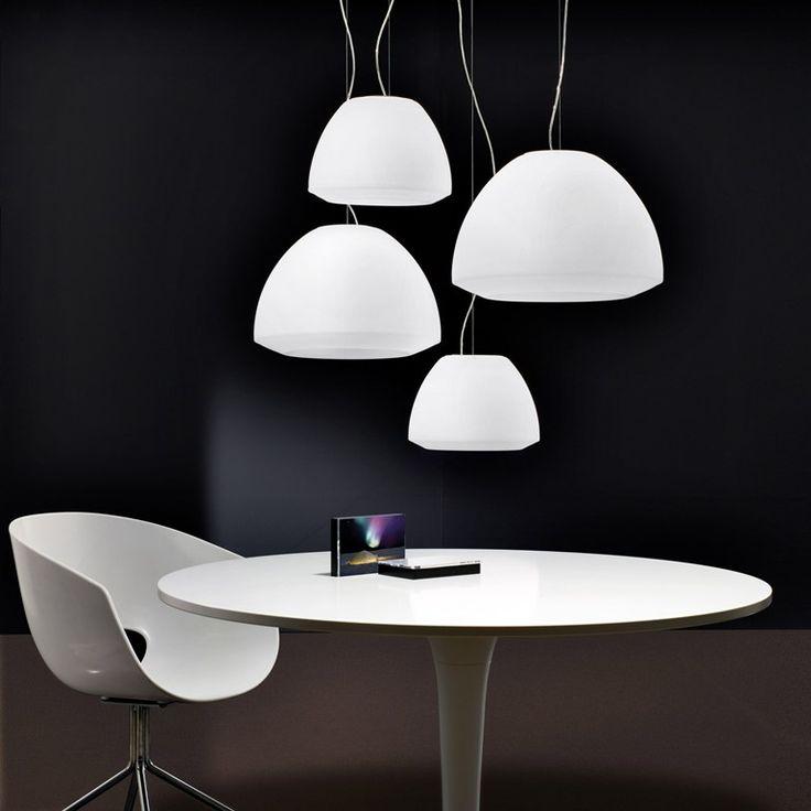 lighting interiors. Lampada A Sospensione Fluorescente In Vetro Soffiato KUDLIK - AXO LIGHT #axolight #design # Lighting Interiors