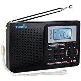 VITE vt-111DSP/LW Onda Corta Radio AM/FM con reloj y alarma, color negro