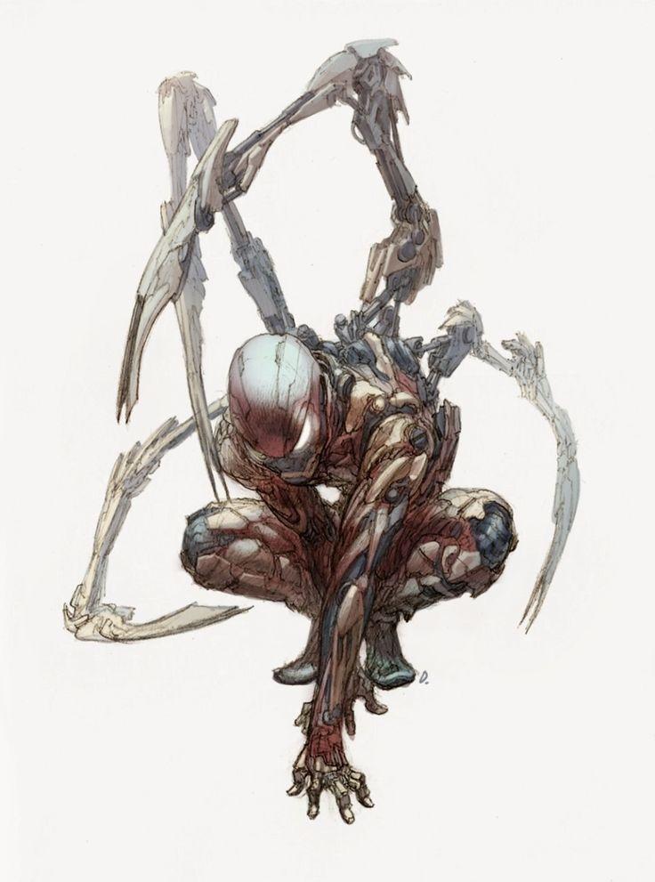iron spiderman, Jong Hwan on ArtStation at https://www.artstation.com/artwork/qE1PD