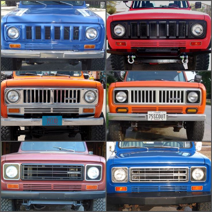 So many grille choices on the Scout II