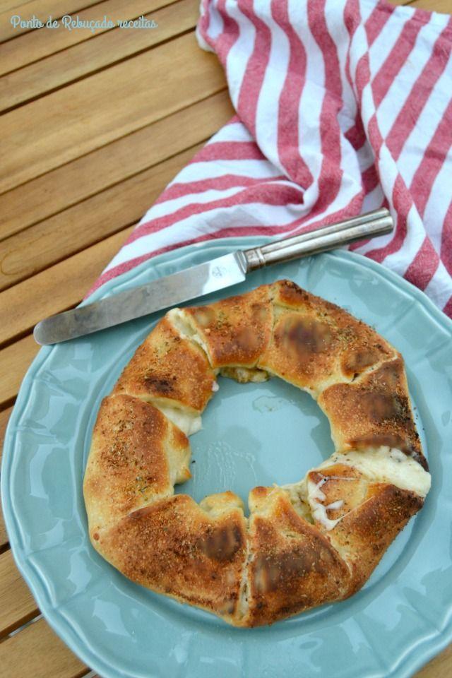 Ponto de Rebuçado Receitas: Coroa de pão de alho com queijo
