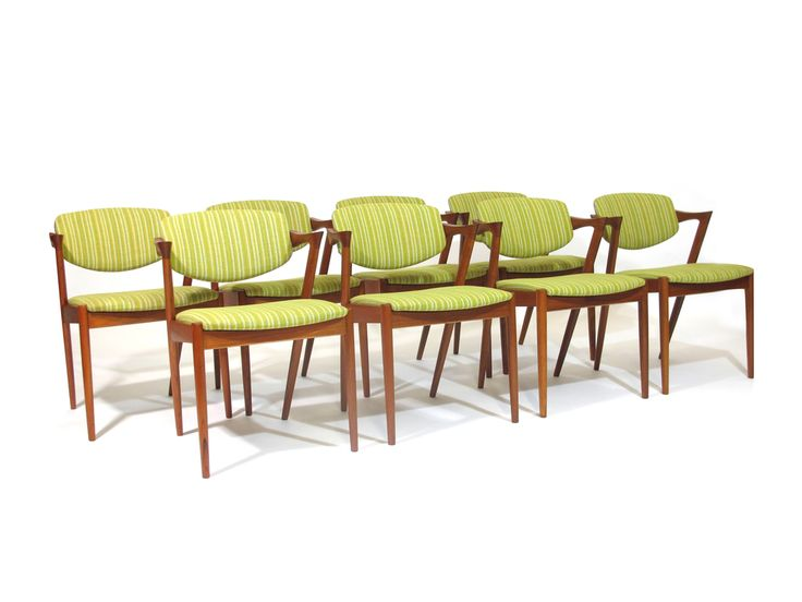 Model 42 Dining Chairs Designed By Kai Kristiansen Features A Solid Teak Frame With