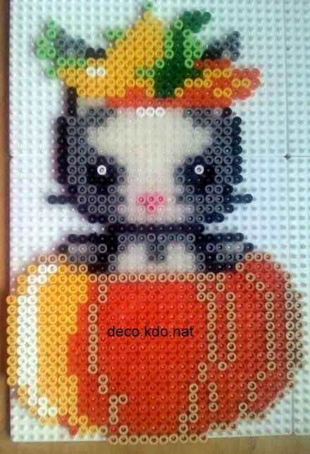 Kitten pumpkin hama perler by deco.kdo.nat