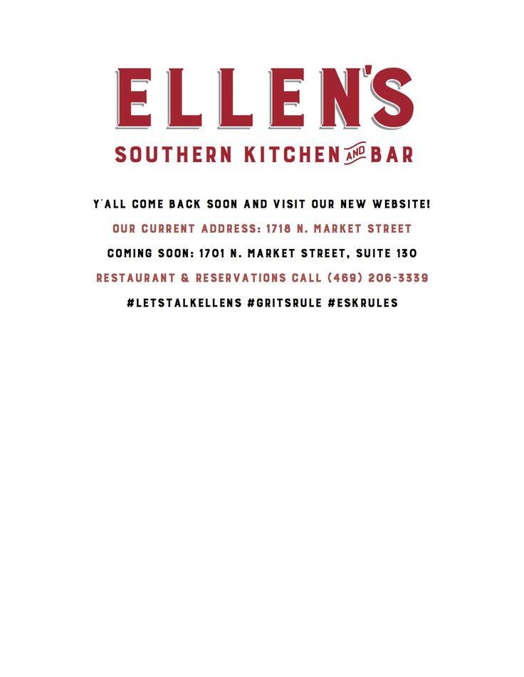 Ellen Southern Kitchen | DFW Restaurants | Pinterest | Posts ...