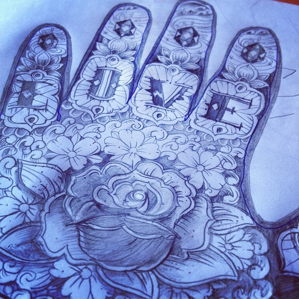 """the first sketch for my project """"eternal hands"""" by kartess"""