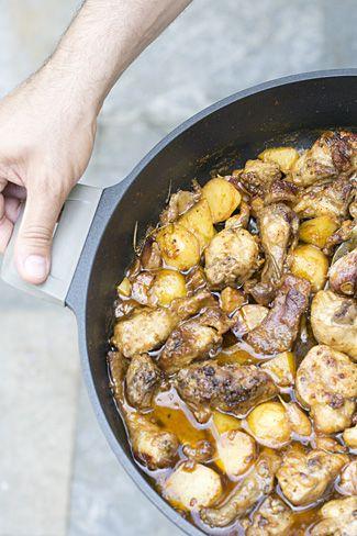 receta de conejo al ajillo
