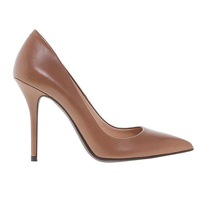100400-CARAMEL LEATHER #mourtzi #heels #caramel #office #wow #pumps #chic www.mourtzi.com