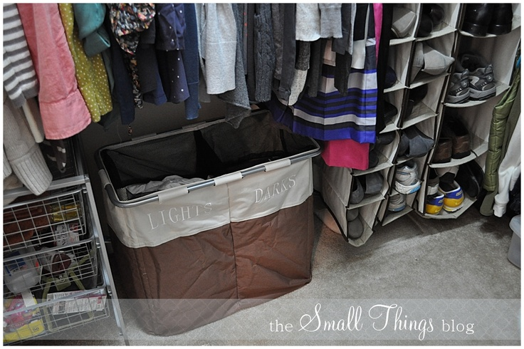 duh.: Clothing Organizations, Clothing Closet, Readers Spaces, Dirty Clothing, Wash Baskets, Organizations Clothing, Lights Dark Hampers, Lightdark Hampers