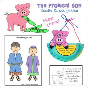 prodigal son craft ideas free prodigal sunday lesson from www daniellesplace 5295
