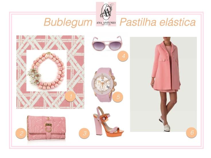 Pastel pink & bublegum
