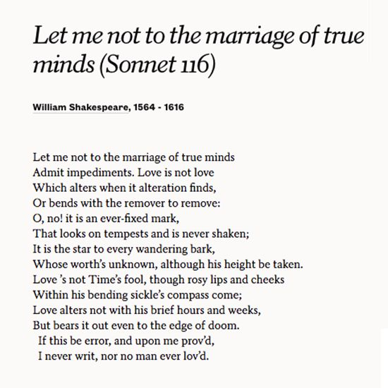 an analysis of love in sonnet 116 and sonnet 130 by william shakespeare Let me not to the marriage of true minds (sonnet 116) william shakespeare o stay and hear your true-love's coming that can sing both high and low.