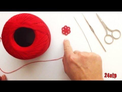 Chiacchierino Ad Ago - 4˚ Lezione Tutorial Realizzazione di un Fiore Come Fare Tatting