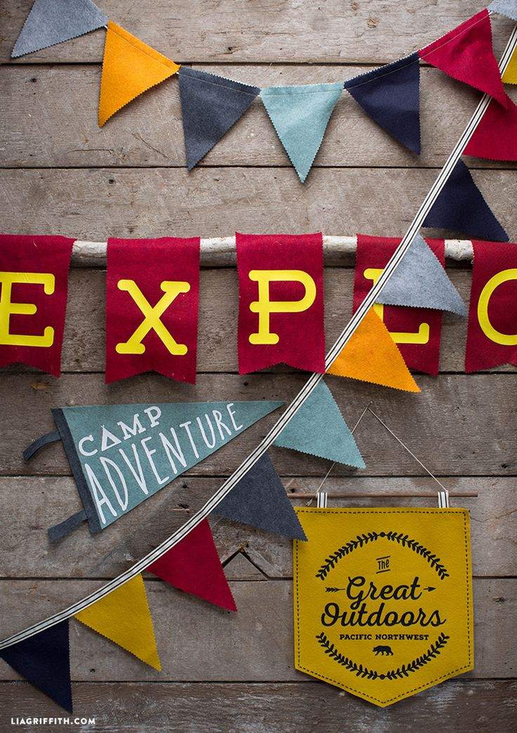 DIY Felt Banner Camping Signs - Lia Griffith