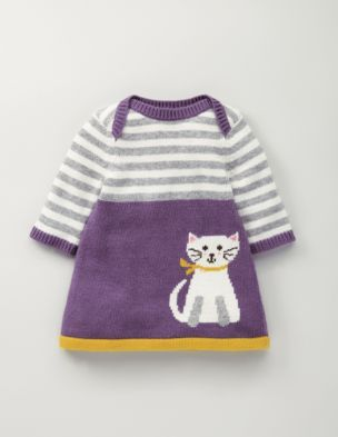 Cat Knitted Dress (Mini Boden, $50)