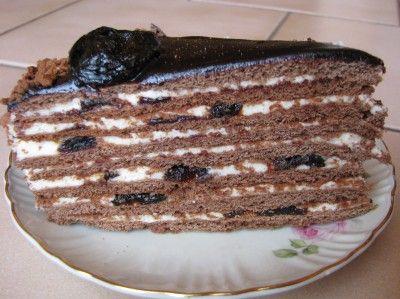 Кухарка: домашняя кухня, видео, кулинария, рецепты, советы, фото  Шоколадно-медовый торт с черносливом