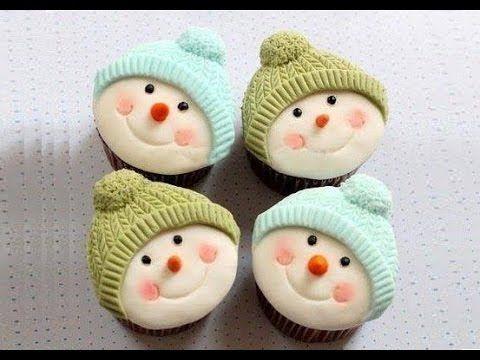 Cupcake pupazzo di neve