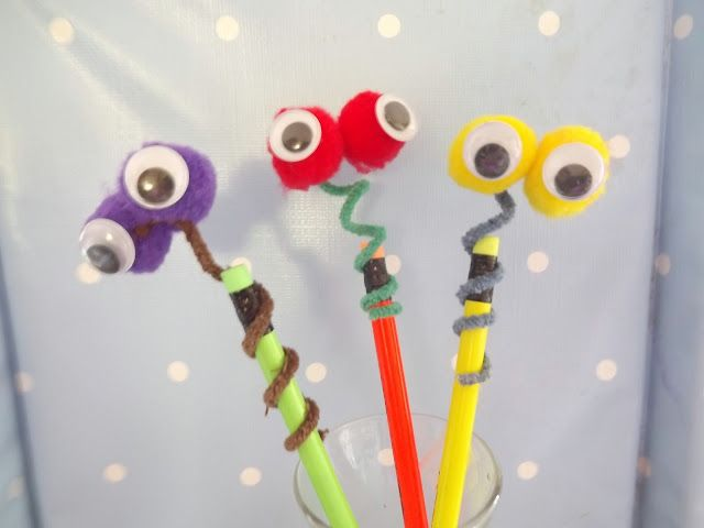Googly Eyed Snake Pencil Toppers