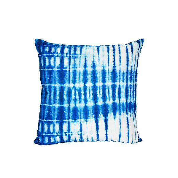 Blue Tie Dye Print Pillow