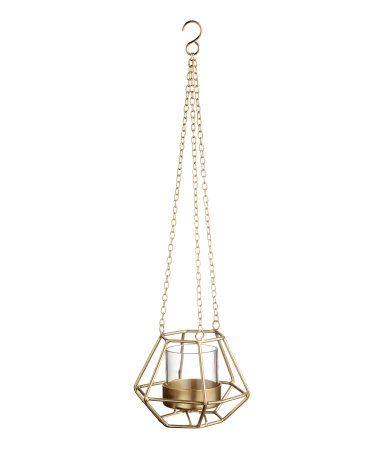 Ljusampel i metall   Guld   Home   H&M SE