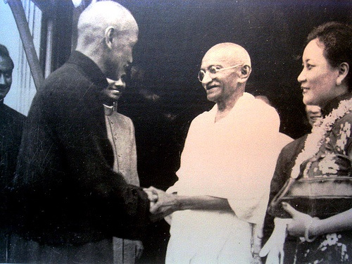 The politics of memory.  Chinese Nationalist leader Chiang Kai-shek with Mahatma Gandhi.
