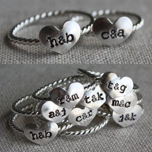 True Love Ring from Amy Cornwell  I want these and a bracelet and necklace, I want my family's initials :)