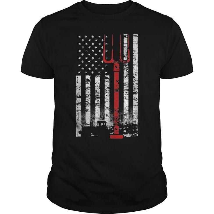 AMERICAN FLAG FARMER T SHIRTS - AMERICAN FLAG FARMER T SHIRTS (Farmer Tshirts)