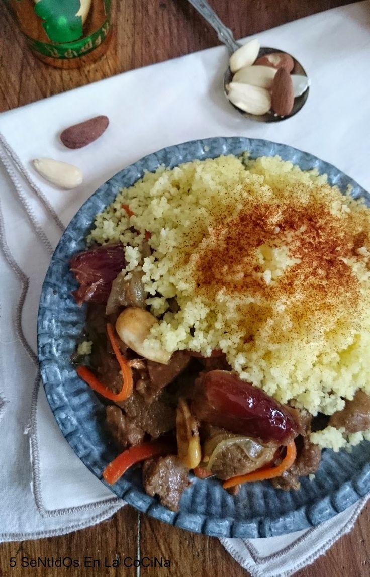 5 Sentidos en la cocina: Tajine de cordero con membrillo y almendras
