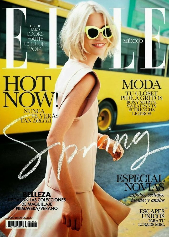 nice Elle Magazine Mexico March 2014 | Aline Weber  [Cover]