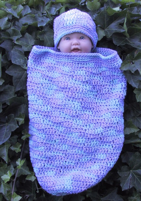 Suzies Stuff Wavy Sleep Sack And Cap Free Crochet