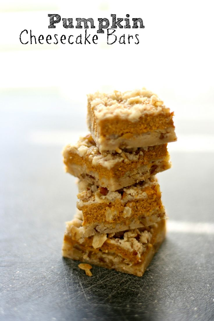 Pumpkin Cheesecake Bars Recipe — Dishmaps
