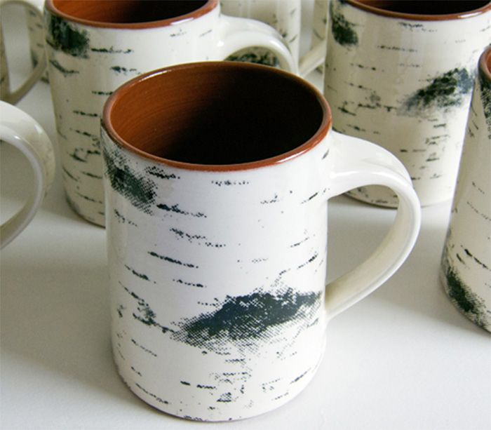 These birch bark coffee mugs are designed to look just like a chunk of birch tree, and is the perfect gift idea for an outdoorsy coffee drinker. Designed by Maria Holmberg, a Swedish pottery designer,...