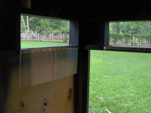 Homemade hunting blind windows homemade ftempo for Building deer blind windows