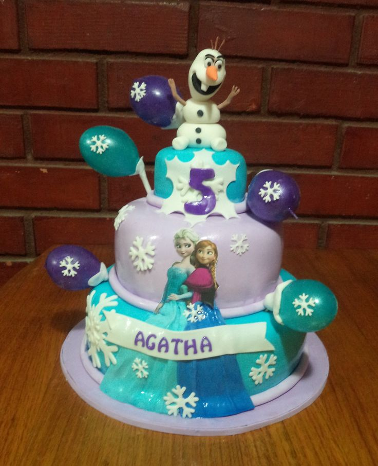 #Frozen #Olaf #fondant #cake by @VolovanProductos