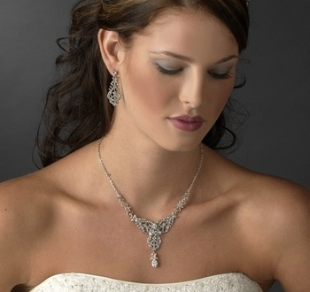 Gorgeous Vintage Inspired Wedding Jewelry Set! More affordable jewelry sets available at affordableelegancebridal.com