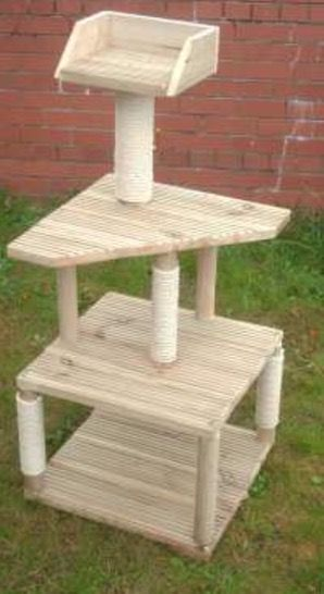 The 3 Tier is the Little cousin of the 4 Tier, yet still provides plenty of space, fun and joy for your feline friend in a compact outdoor activity tree!  With three strong and durable platforms for your feline friend to explore to their hearts content, they will be forever grateful when they presented with this beautifully constructive outdoor cat tree that is built to stand the test of time.  Due to the low centre of gravity, the 3 Tier holds everything together puufectly and your feline…