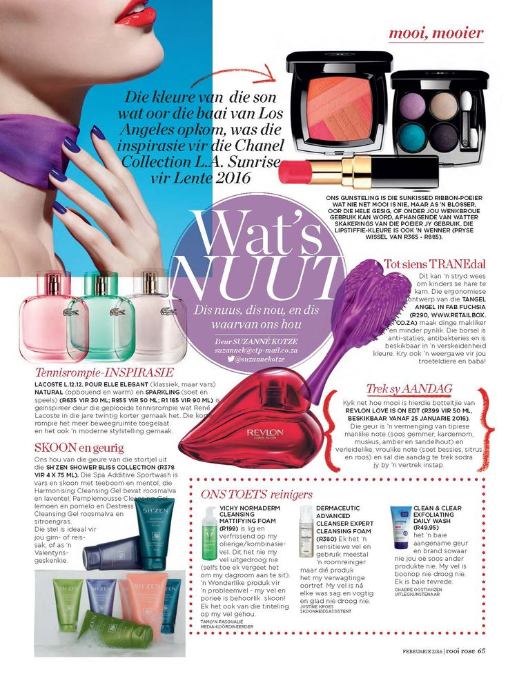 The Shower Bliss Collection got featured in the February 2016 issue of Rooi-Rose...