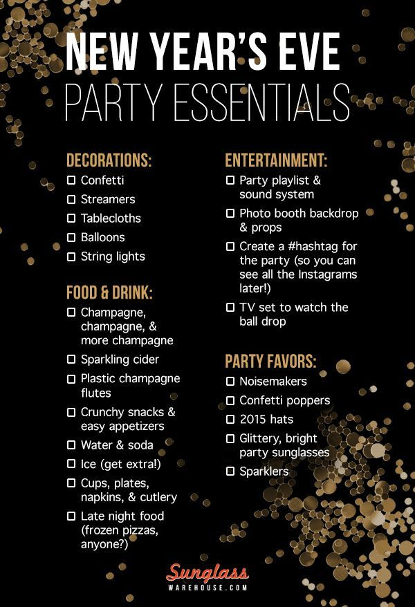 If you are unsure of How to Plan an Epic New Year's Eve Party this easy checklist helps you to plan out your party essentials...x