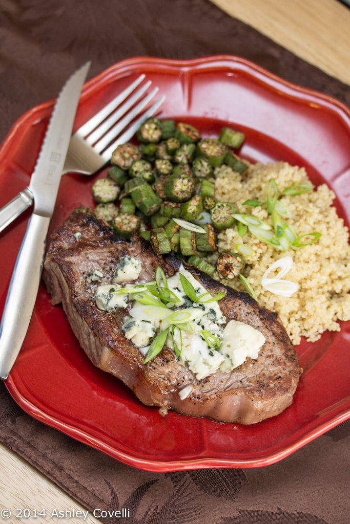 Recipe: Cast Iron Strip Steak with Danish Blue Cheese | Big Flavors from a Tiny Kitchen