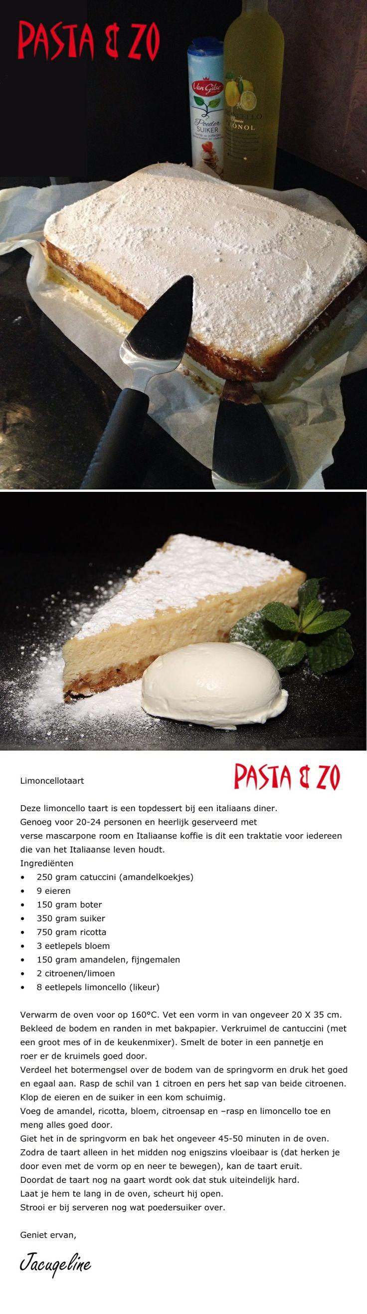 Limoncello taart - Pasta & Zo