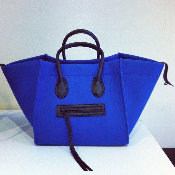 Celine Phantom Tote in cobalt blue neoprene for FW12 | Bags for ...