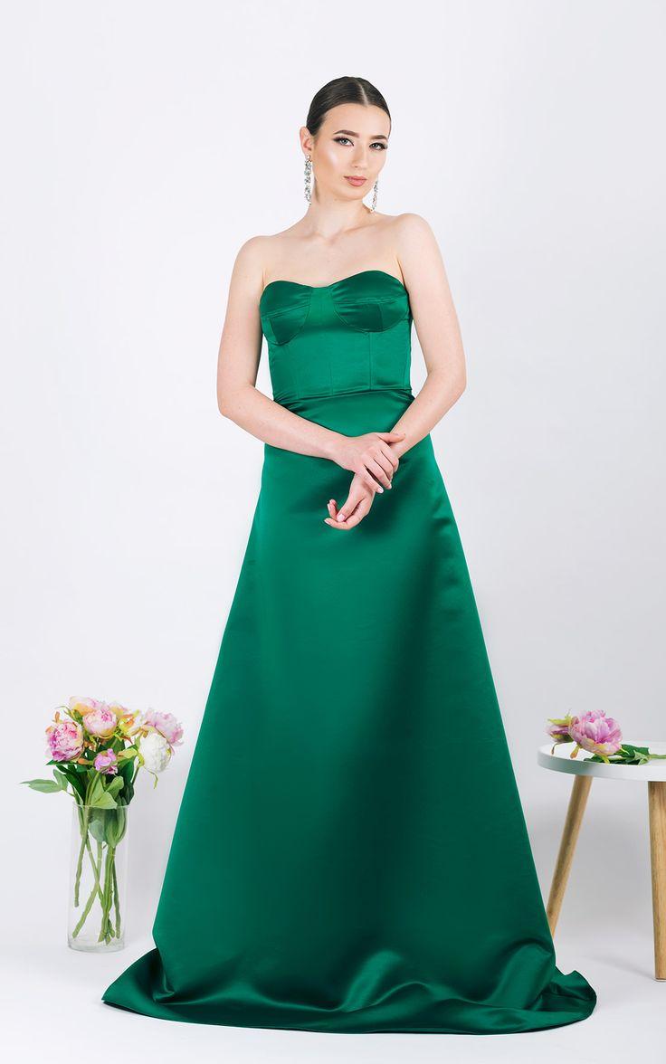 Long evening gown      A-lineshape skirt  ...
